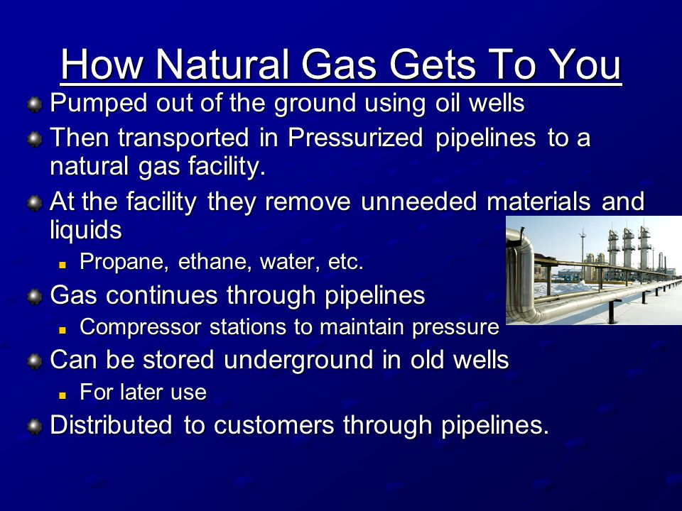 How Natural Gas Gets To You