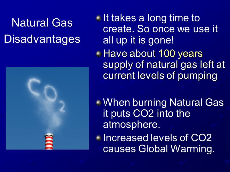 Natural Gas Disadvantages