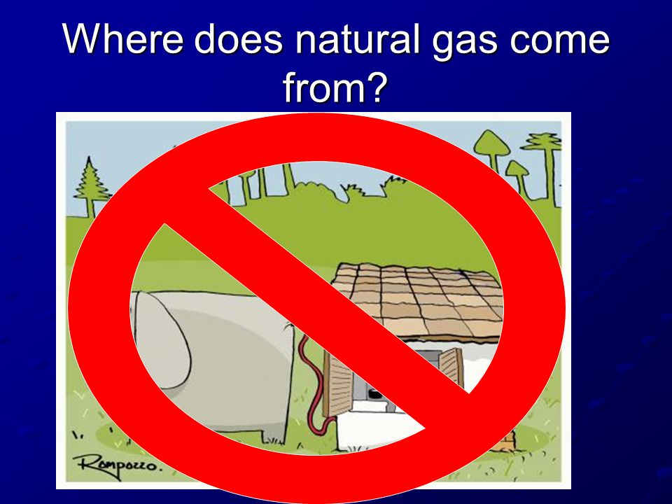 Where does natural gas come from