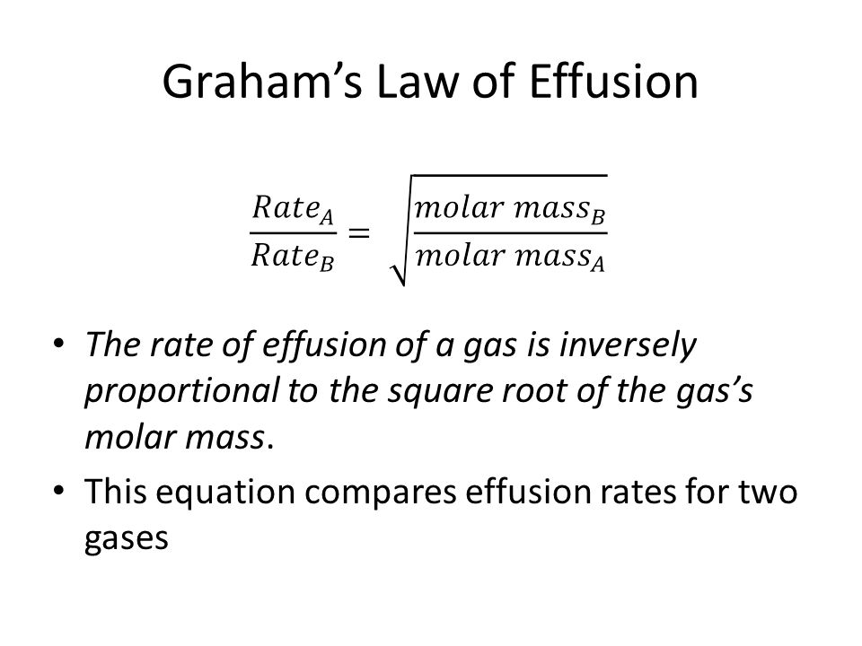 Graham's Law of Effusion