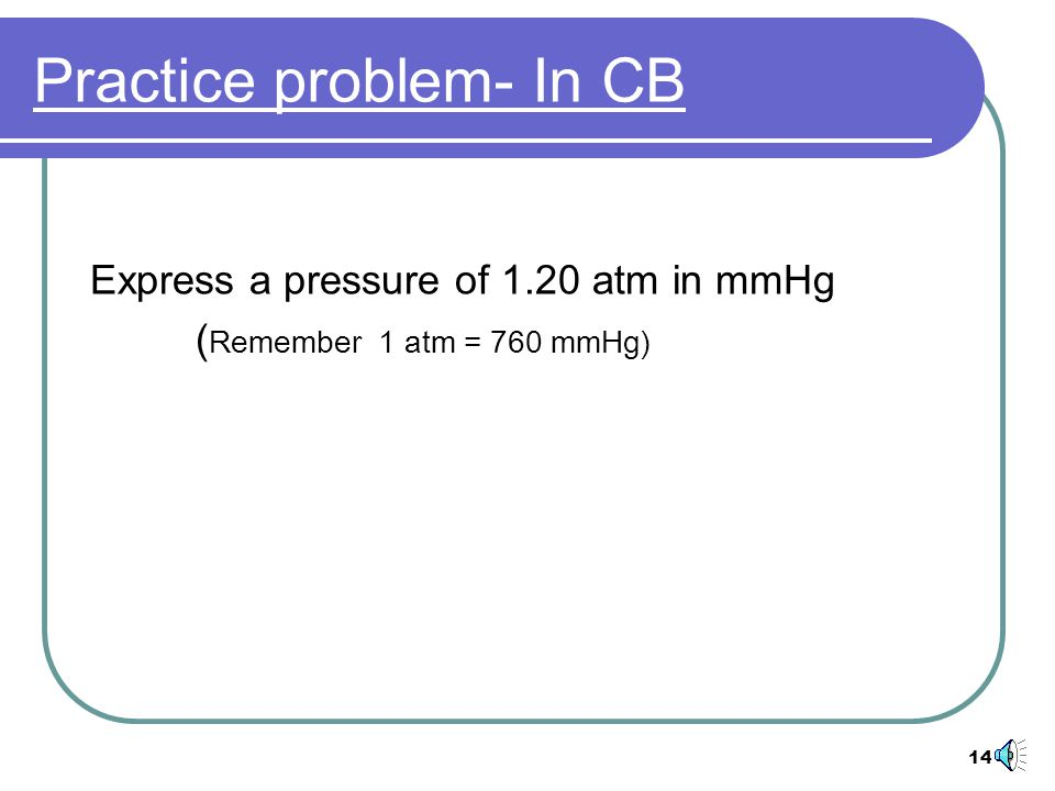 Practice problem- In CB