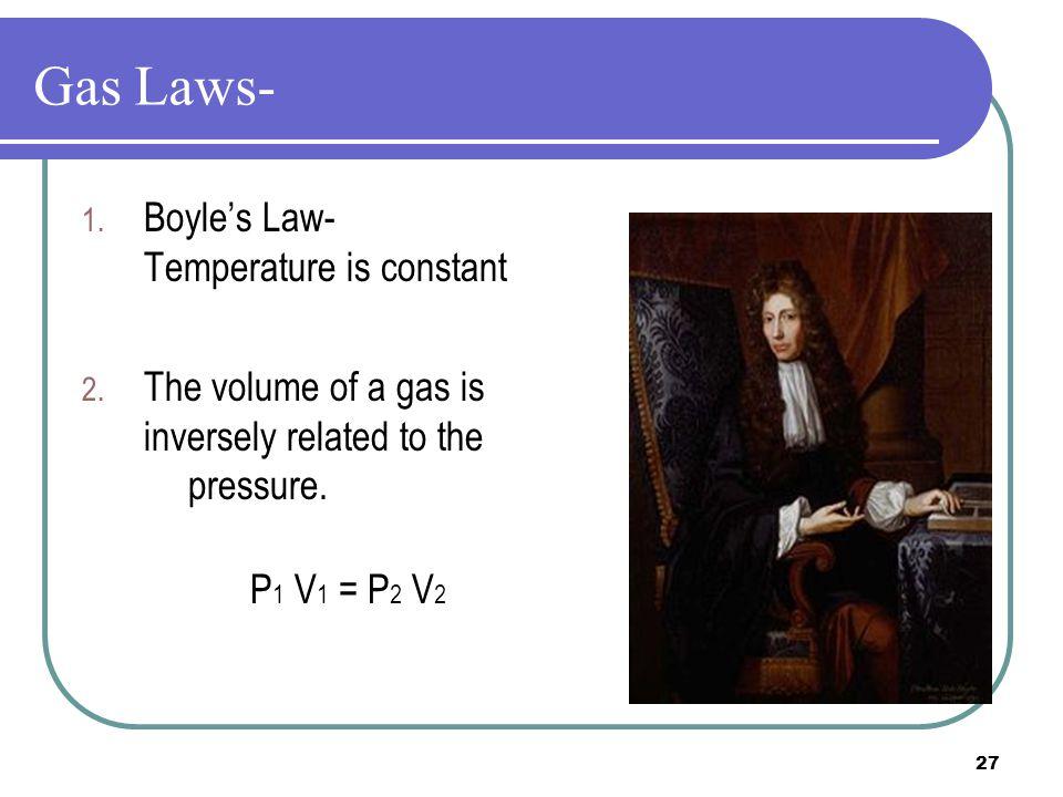 Gas Laws- Boyle's Law- Temperature is constant