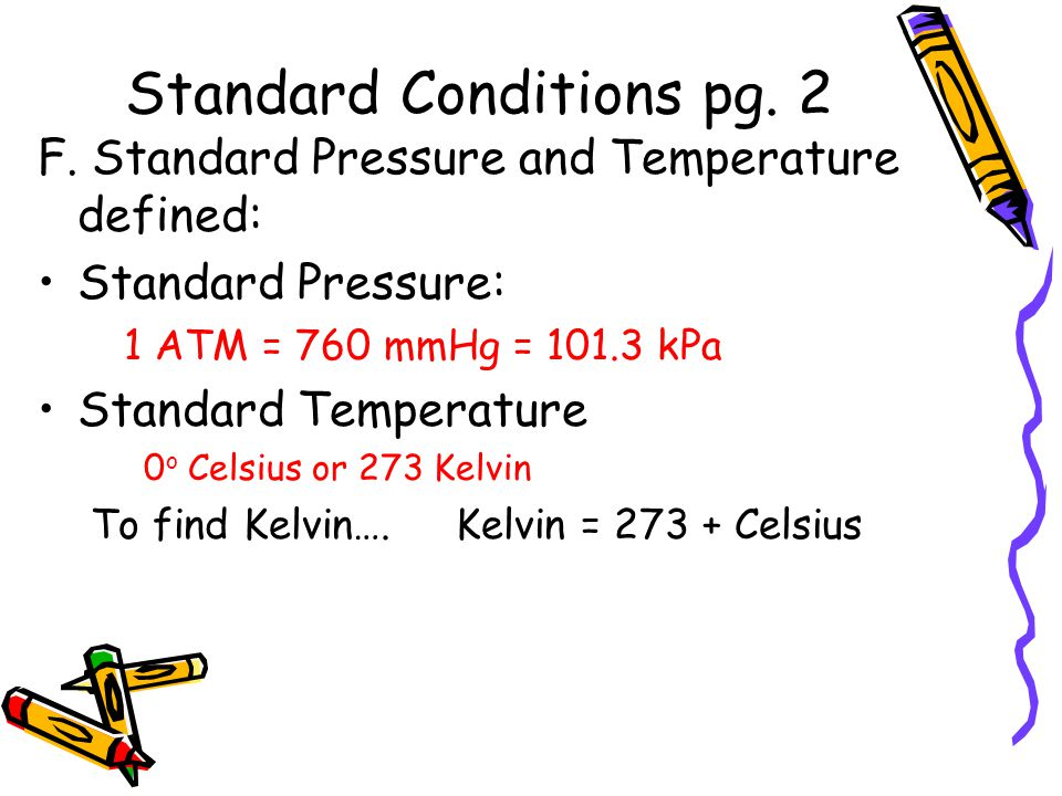 Standard Conditions pg. 2