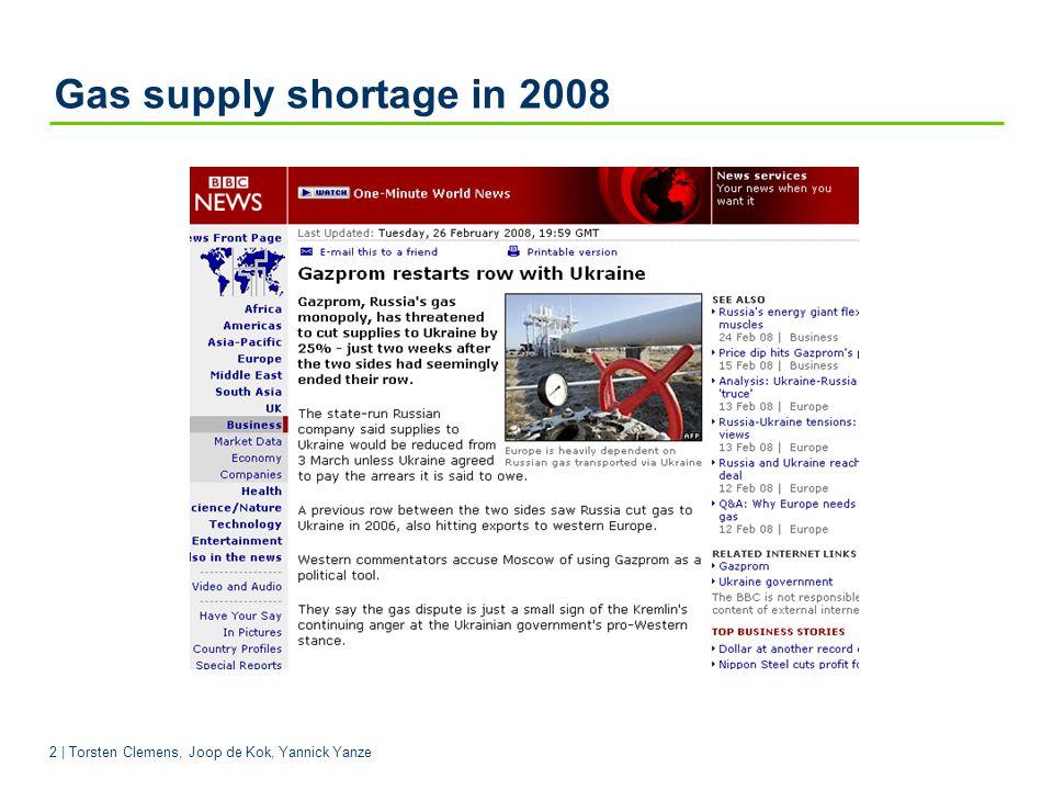 Gas supply shortage in 2008