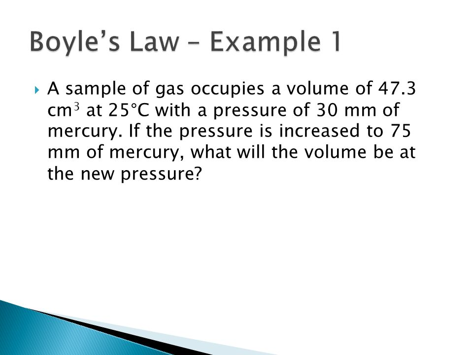 Boyle's Law – Example 1