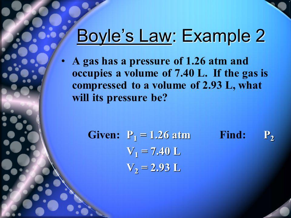 Boyle's Law: Example 2