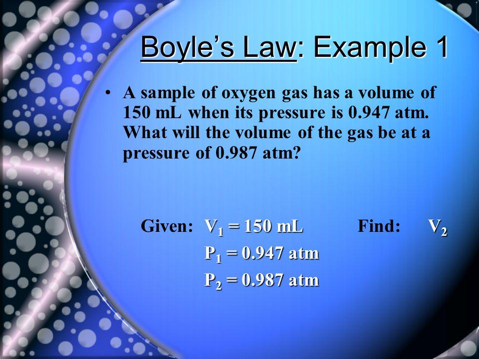 Boyle's Law: Example 1