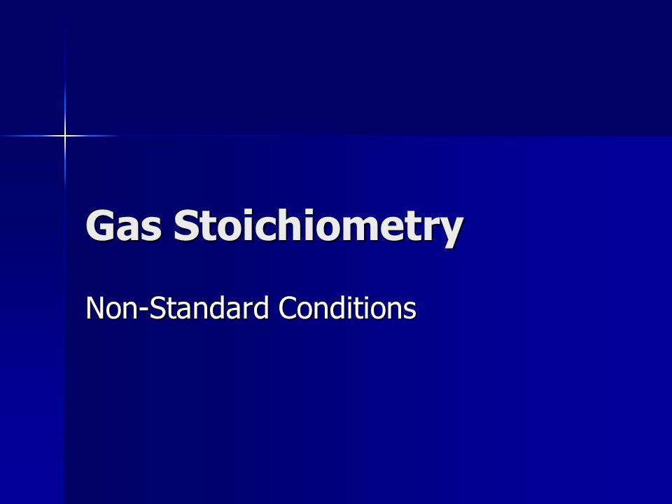 Non-Standard Conditions