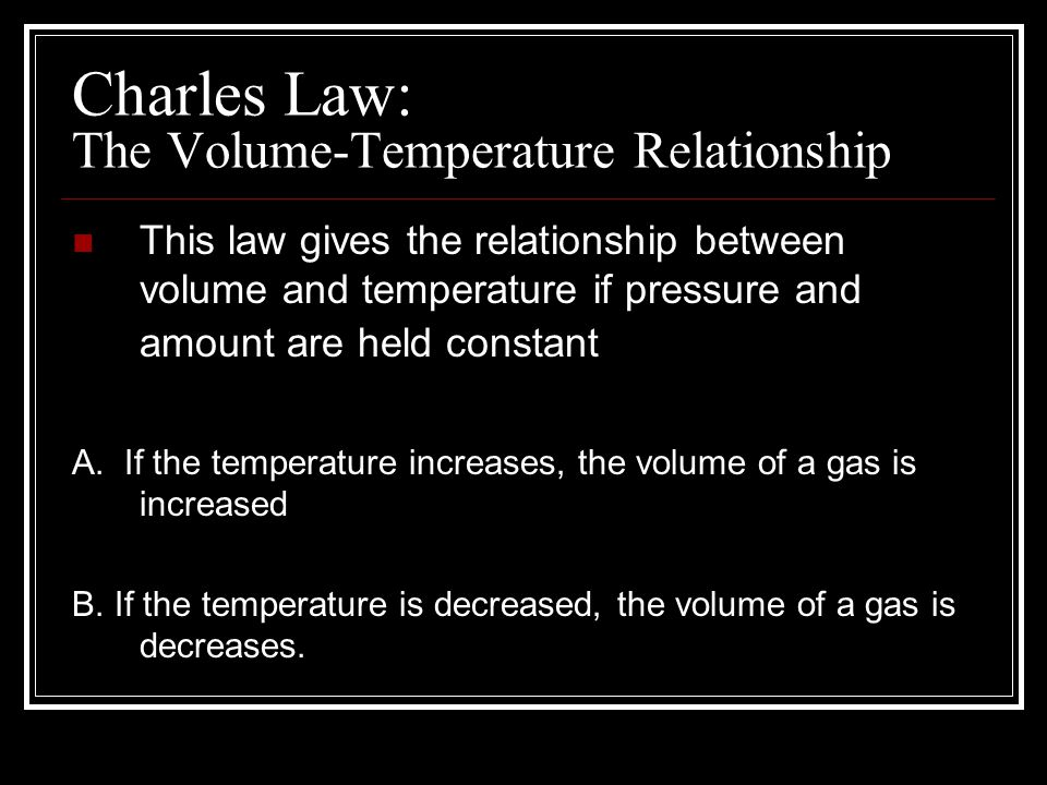 pressure and temperature relationship direct