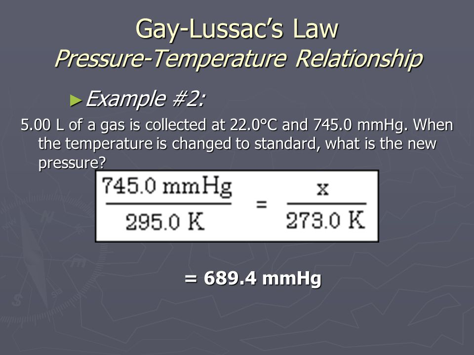 Gay-Lussac's Law Pressure-Temperature Relationship