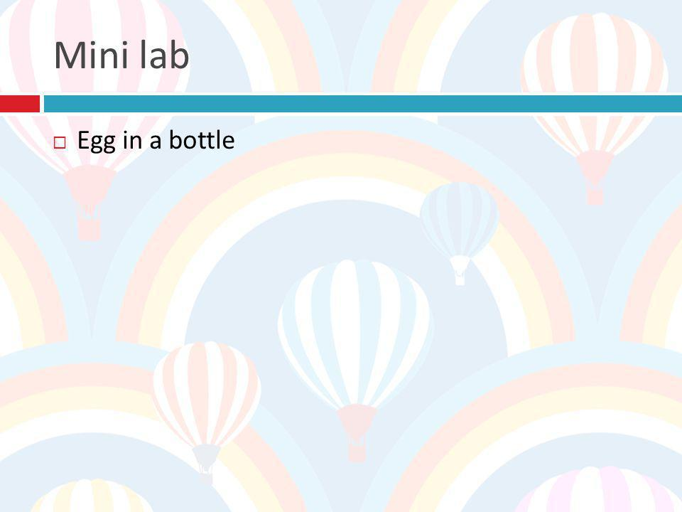 Mini lab Egg in a bottle