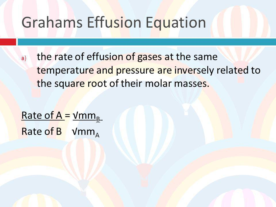 Grahams Effusion Equation