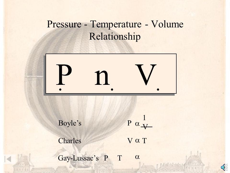 Pressure - Temperature - Volume Relationship