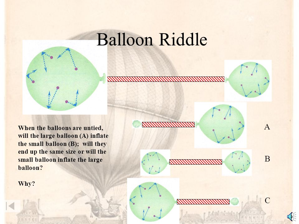 Balloon Riddle A B C When the balloons are untied,