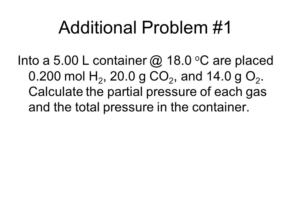 Additional Problem #1