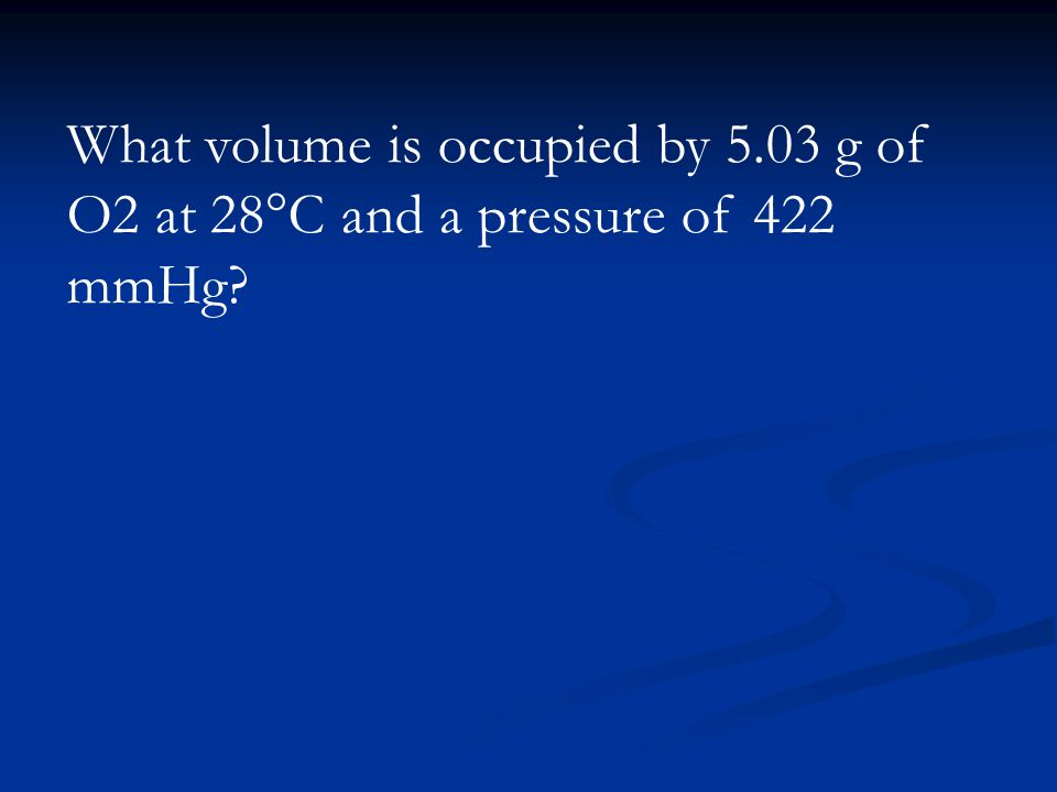 What volume is occupied by 5