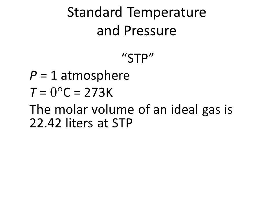 Standard Temperature and Pressure