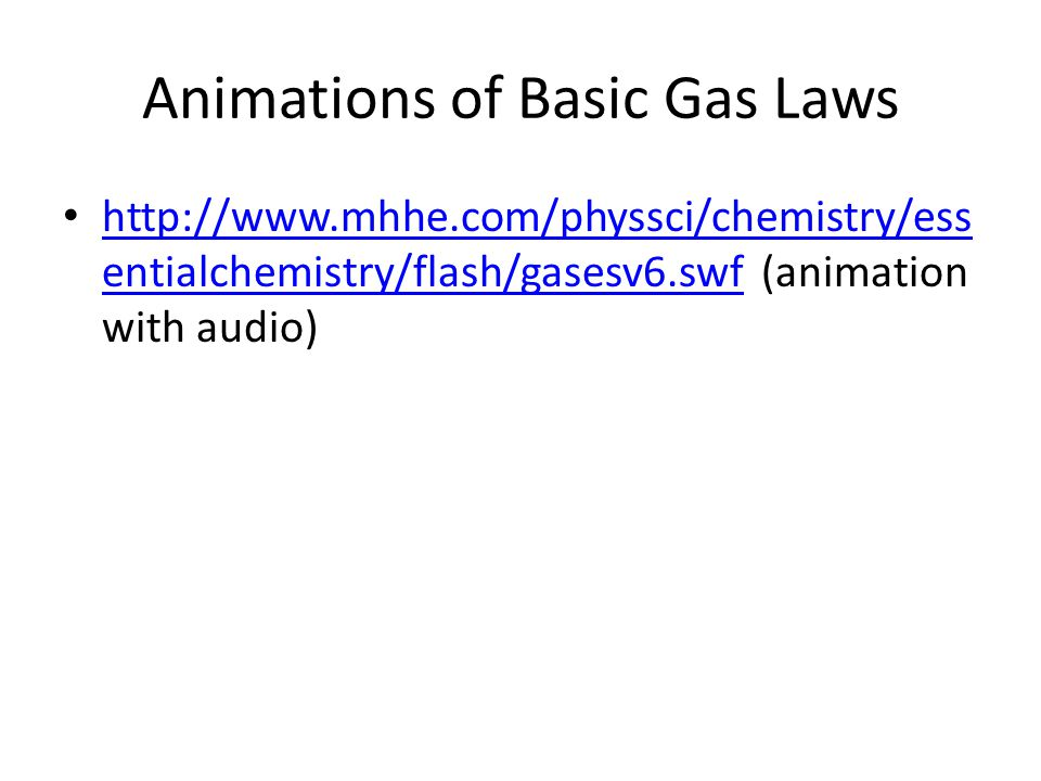 Animations of Basic Gas Laws