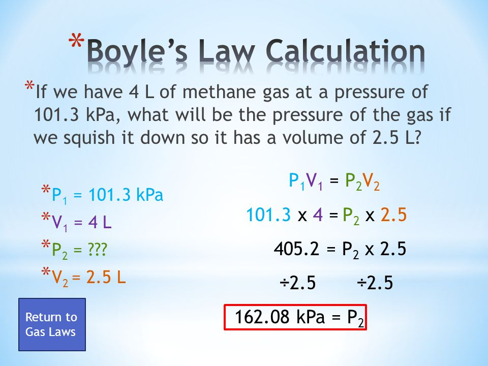 Boyle's Law Calculation