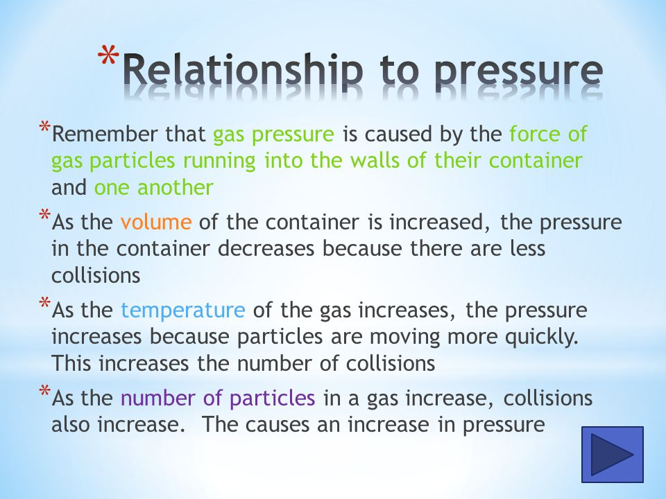 Relationship to pressure