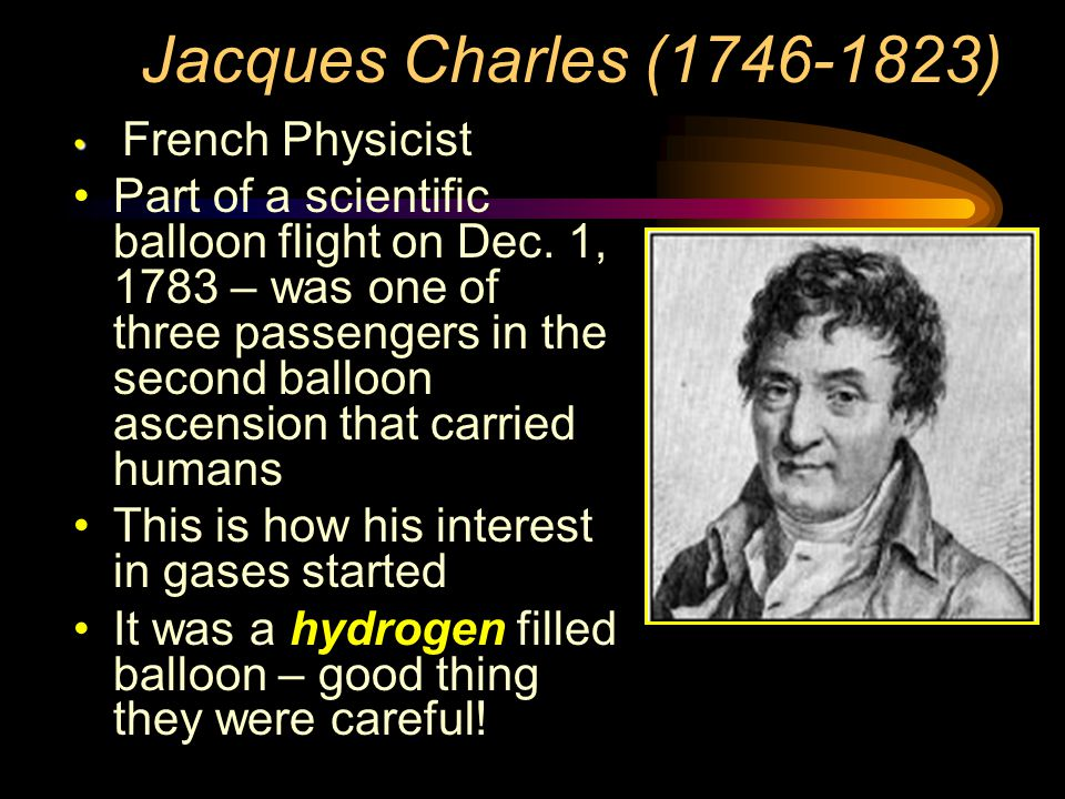 Jacques Charles (1746-1823) French Physicist.