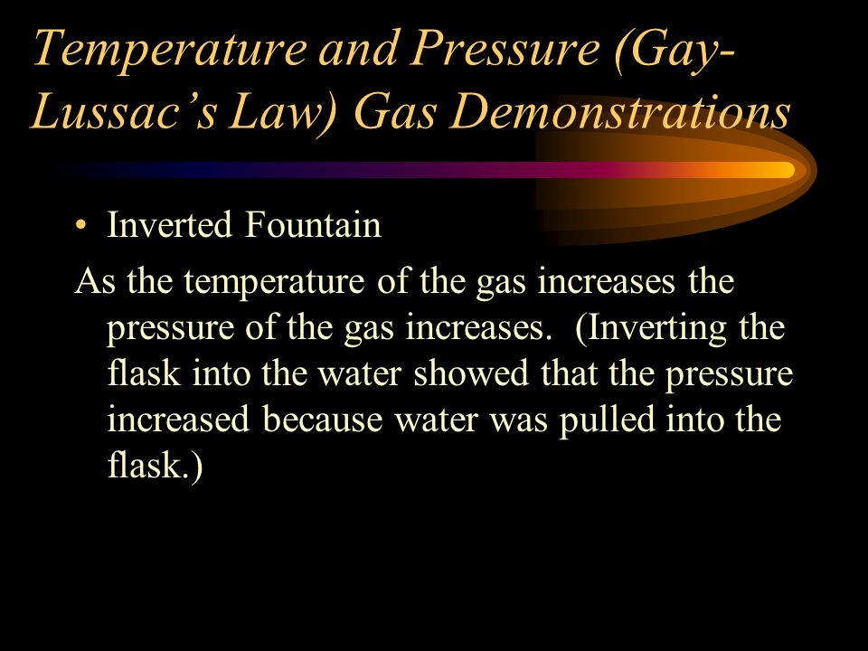 Temperature and Pressure (Gay-Lussac's Law) Gas Demonstrations