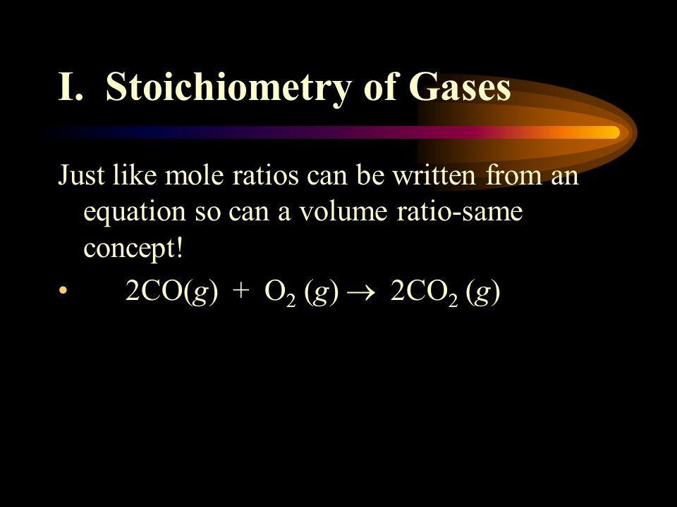 I. Stoichiometry of Gases