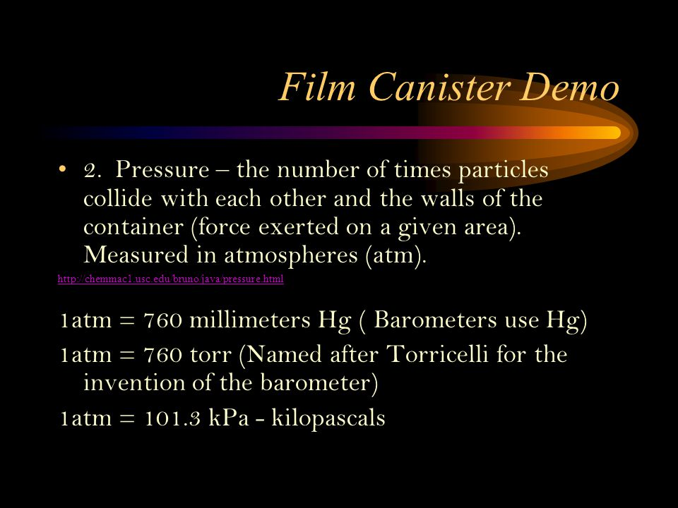 Film Canister Demo
