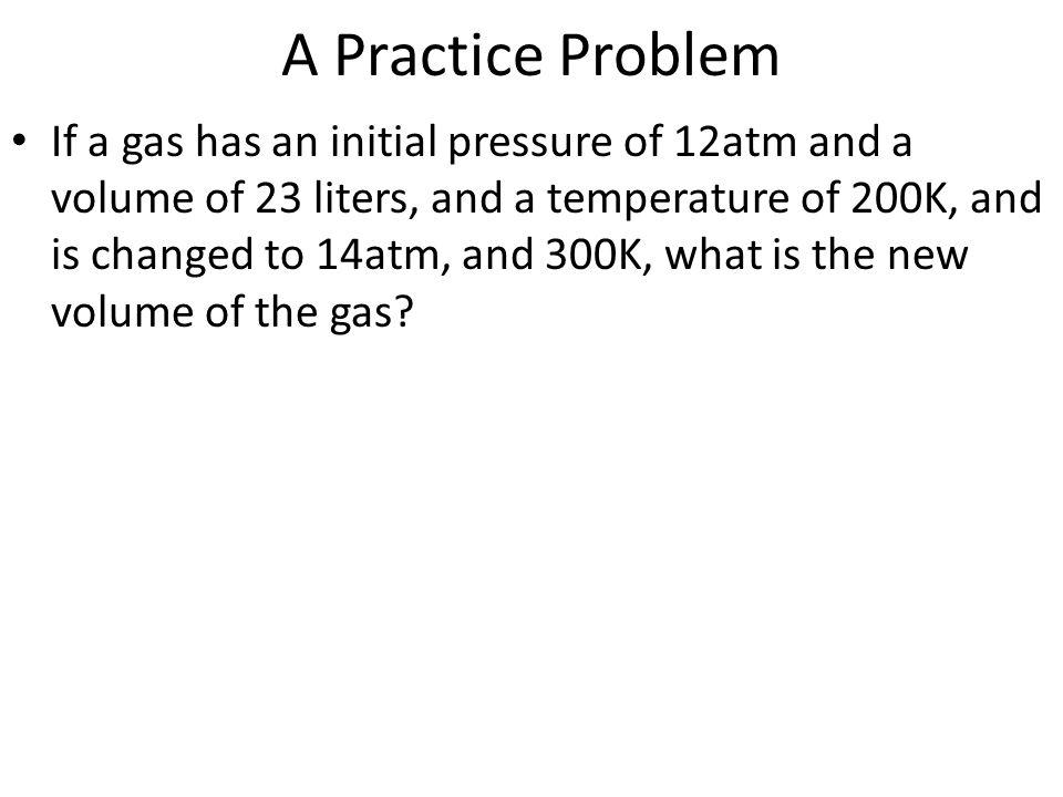 A Practice Problem