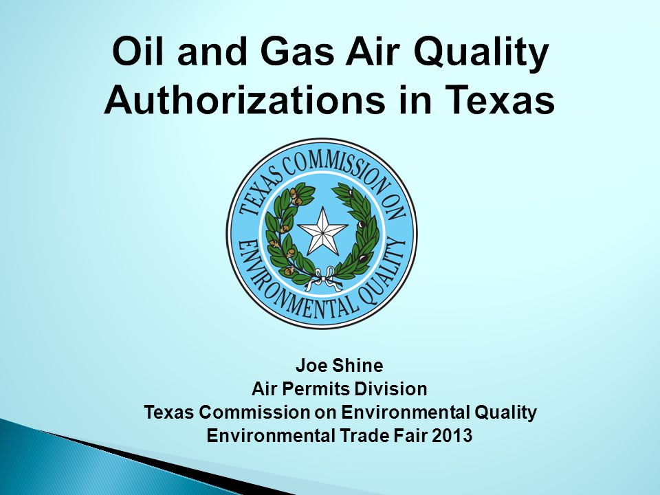 Oil and Gas Air Quality Authorizations in Texas