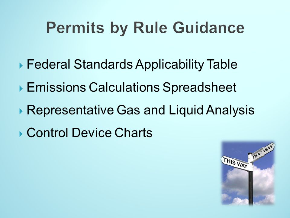 Permits by Rule Guidance