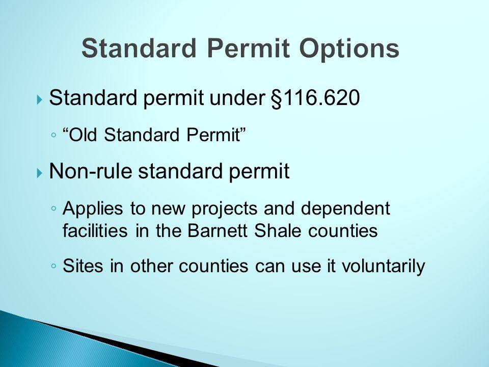 Standard Permit Options