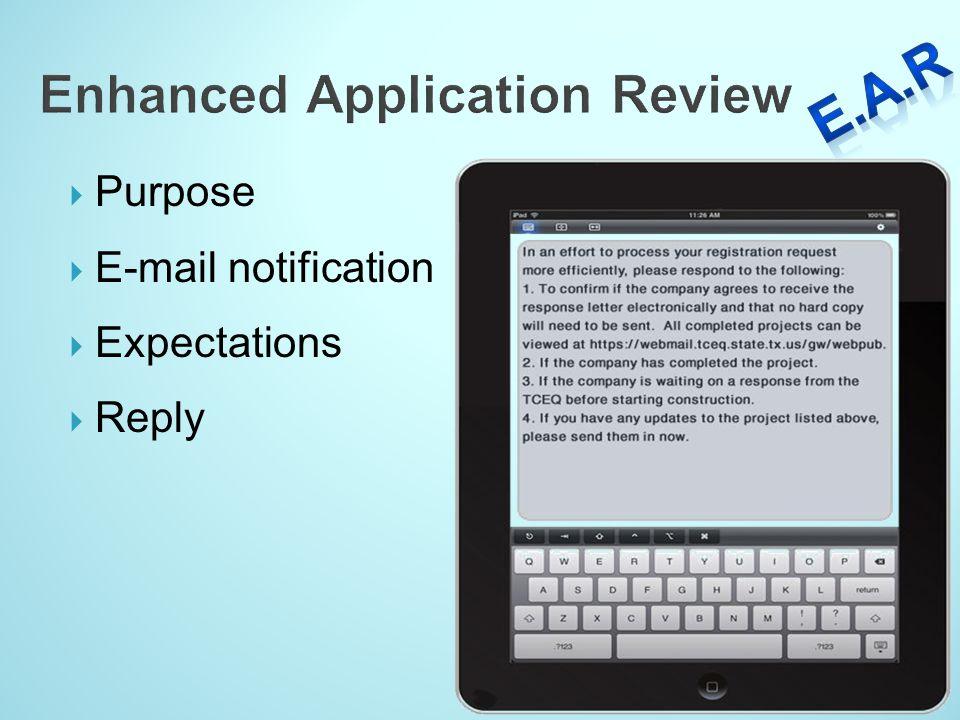 Enhanced Application Review