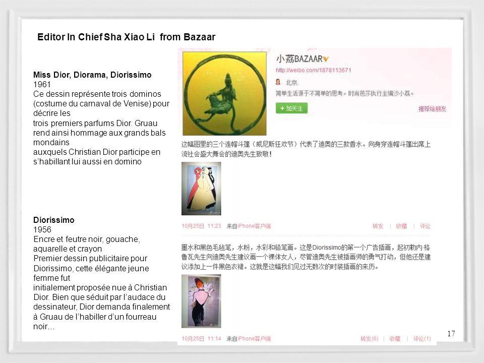 Editor In Chief Sha Xiao Li from Bazaar