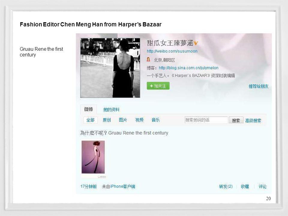 Fashion Editor Chen Meng Han from Harper's Bazaar