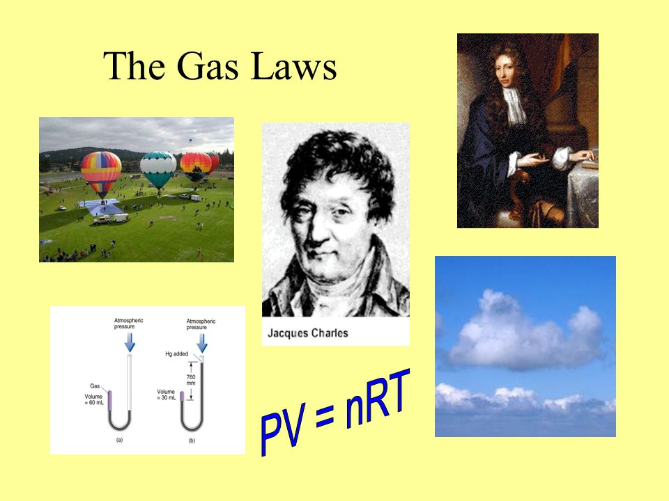 The Gas Laws PV = nRT
