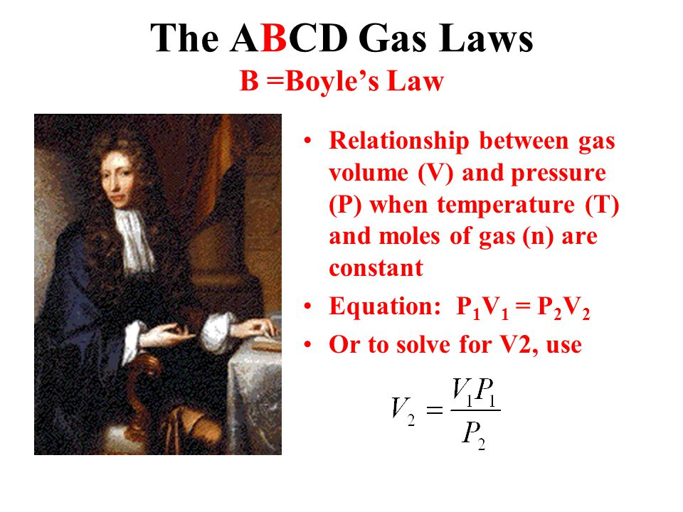 The ABCD Gas Laws B =Boyle's Law