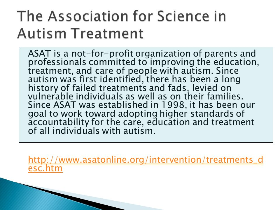 The Association for Science in Autism Treatment