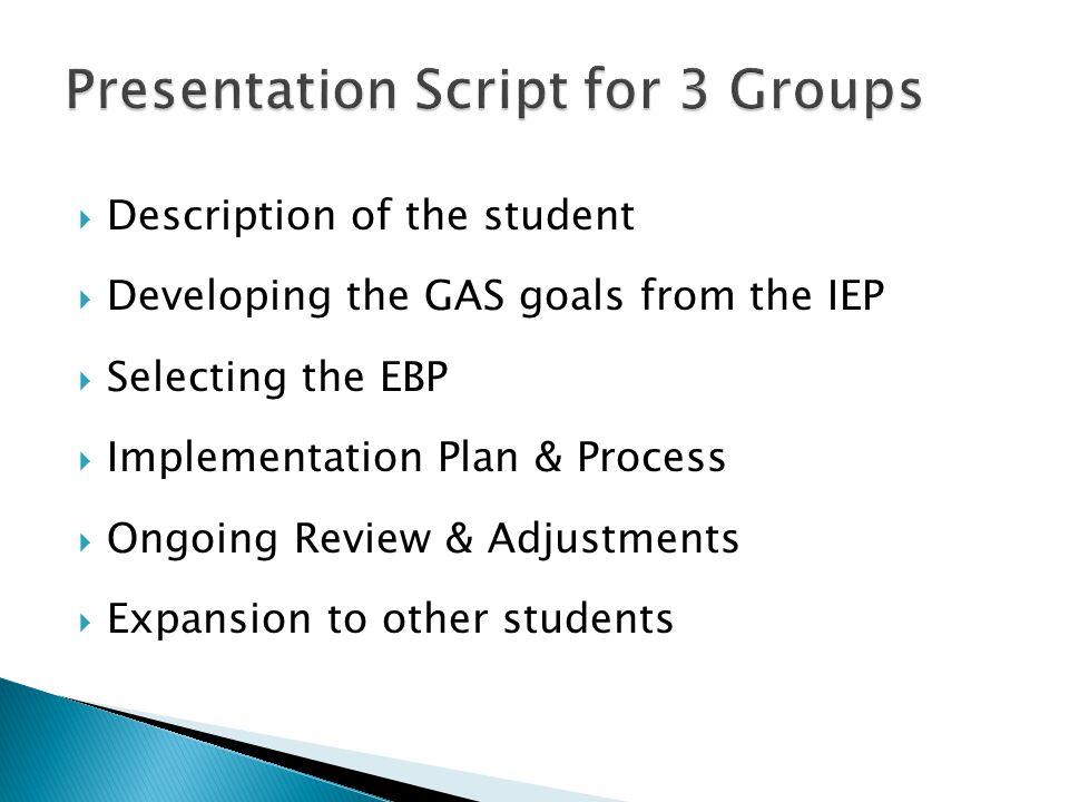 Presentation Script for 3 Groups