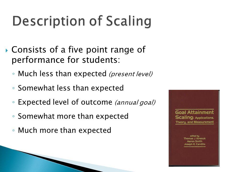 Description of Scaling