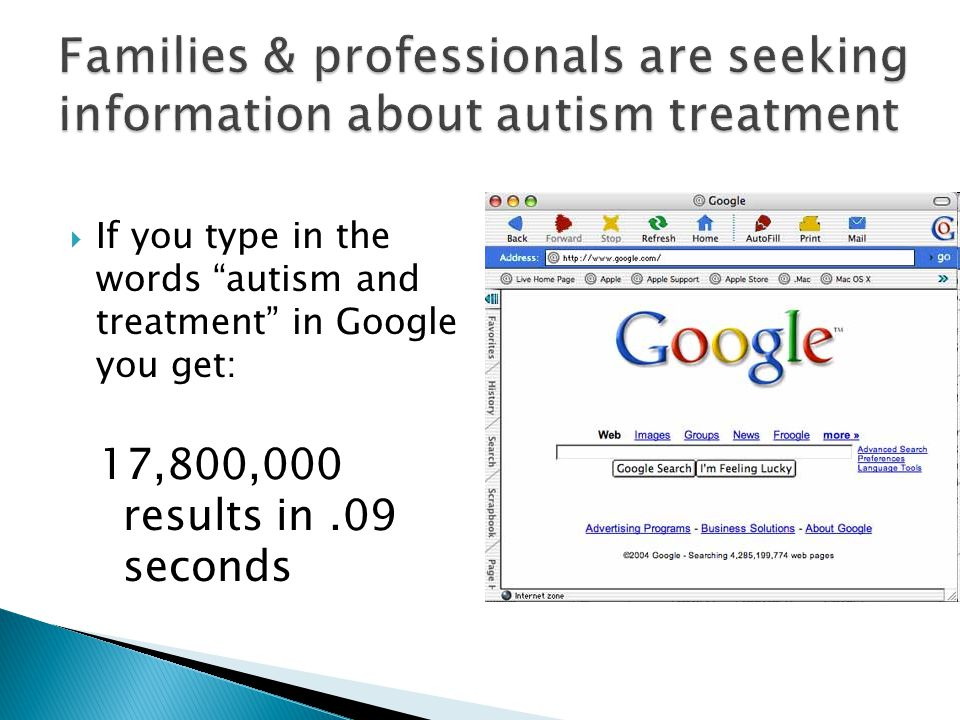 Families & professionals are seeking information about autism treatment