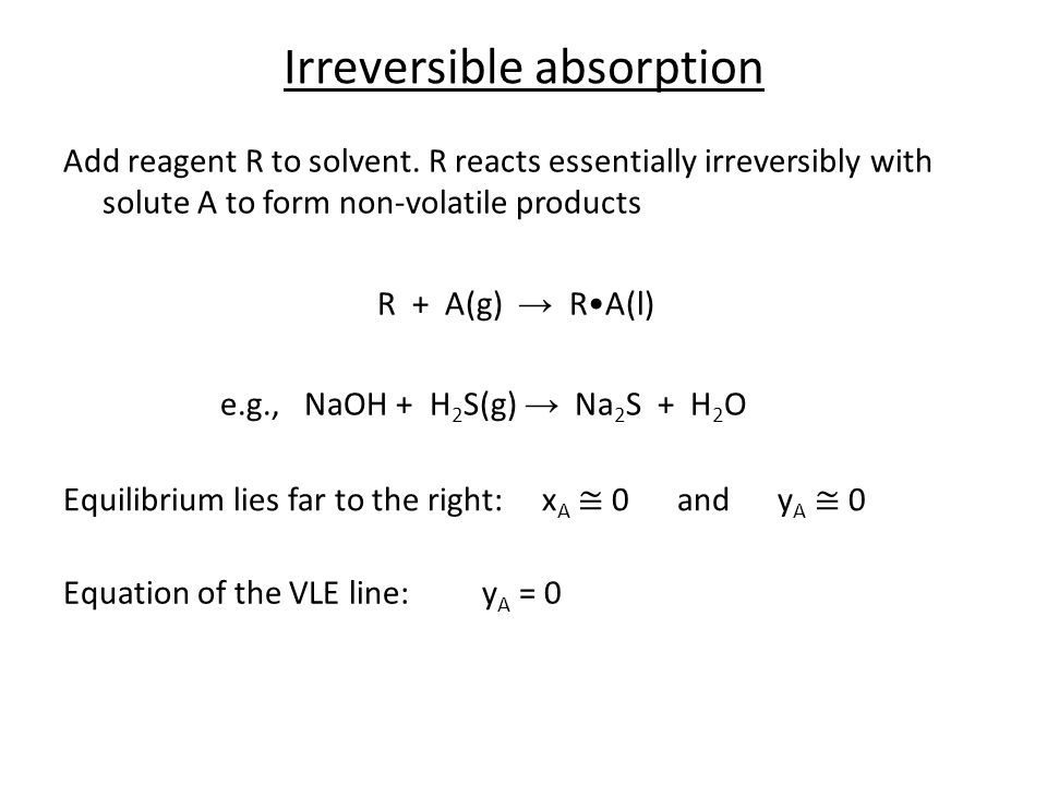 Irreversible absorption
