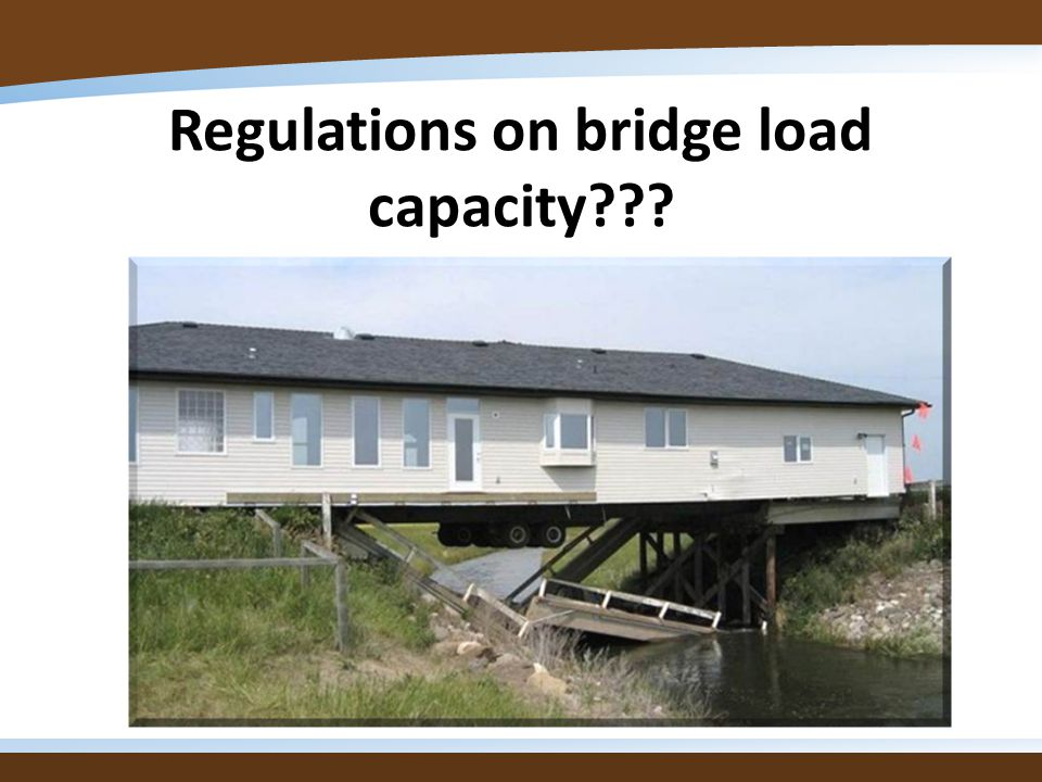 Regulations on bridge load capacity