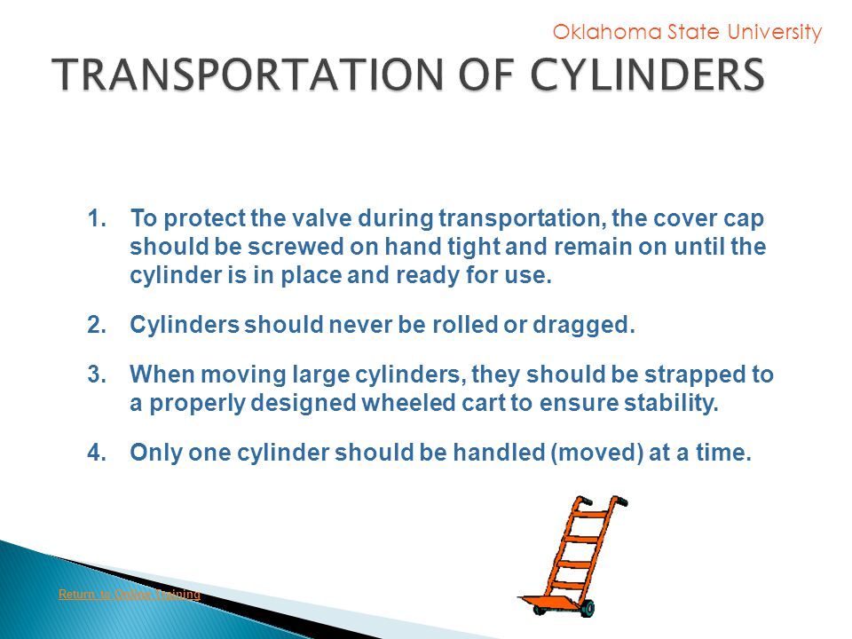 TRANSPORTATION OF CYLINDERS