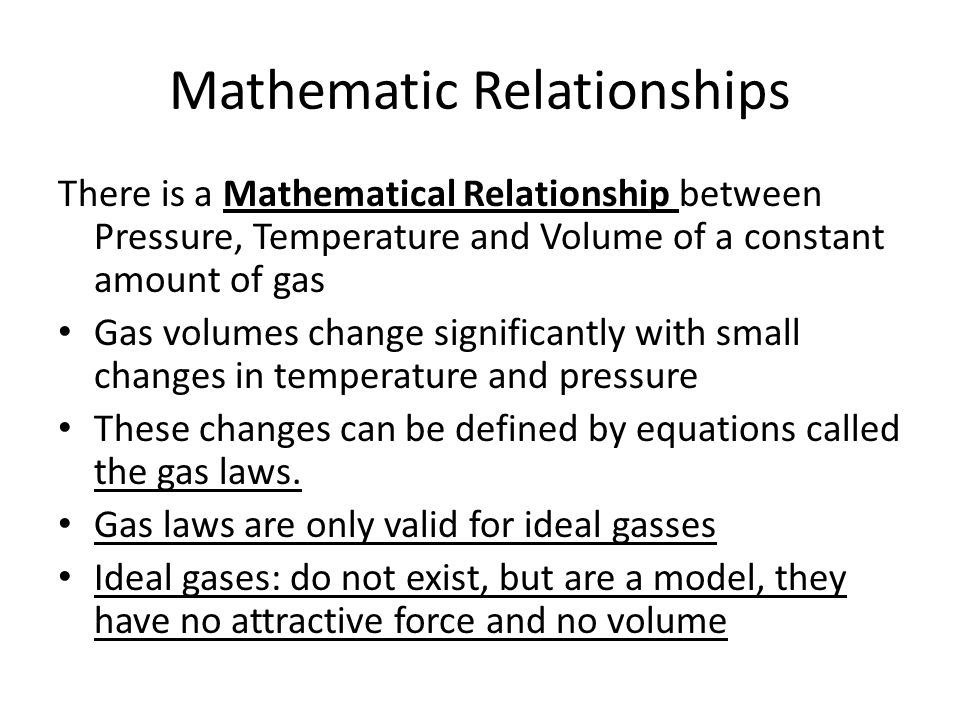 Mathematic Relationships
