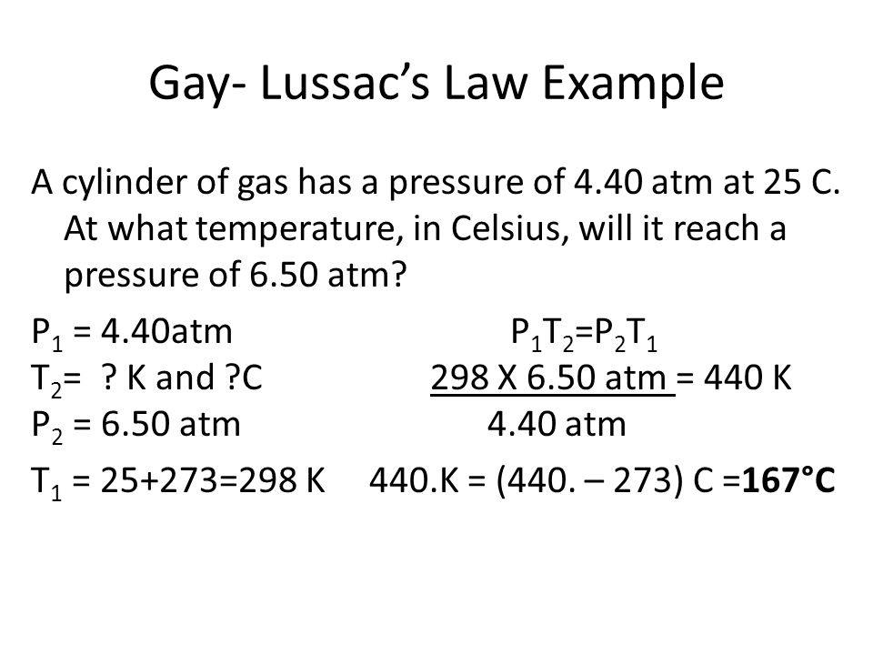 Gay- Lussac's Law Example