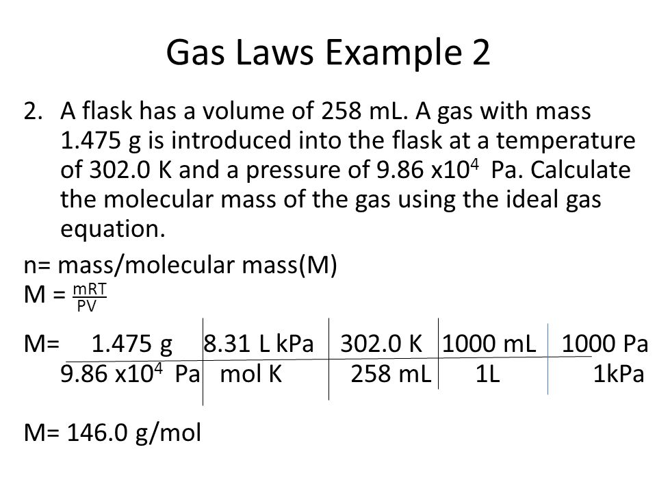 Gas Laws Example 2