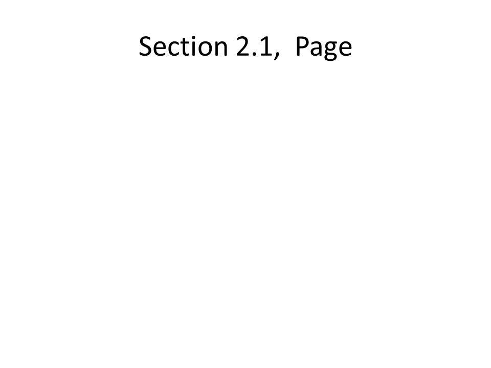 Section 2.1, Page
