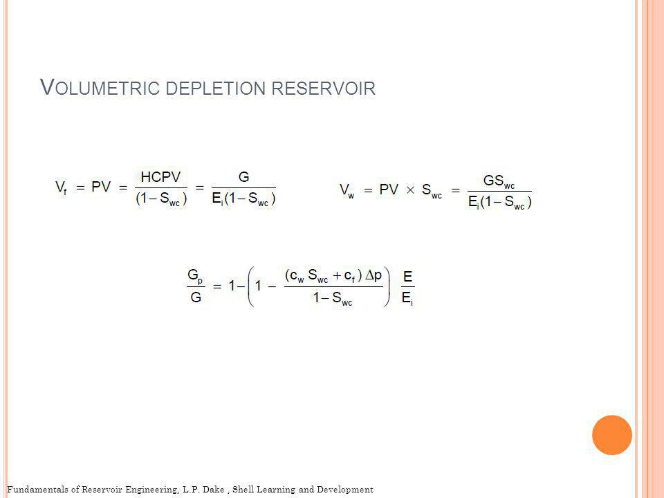 Volumetric depletion reservoir
