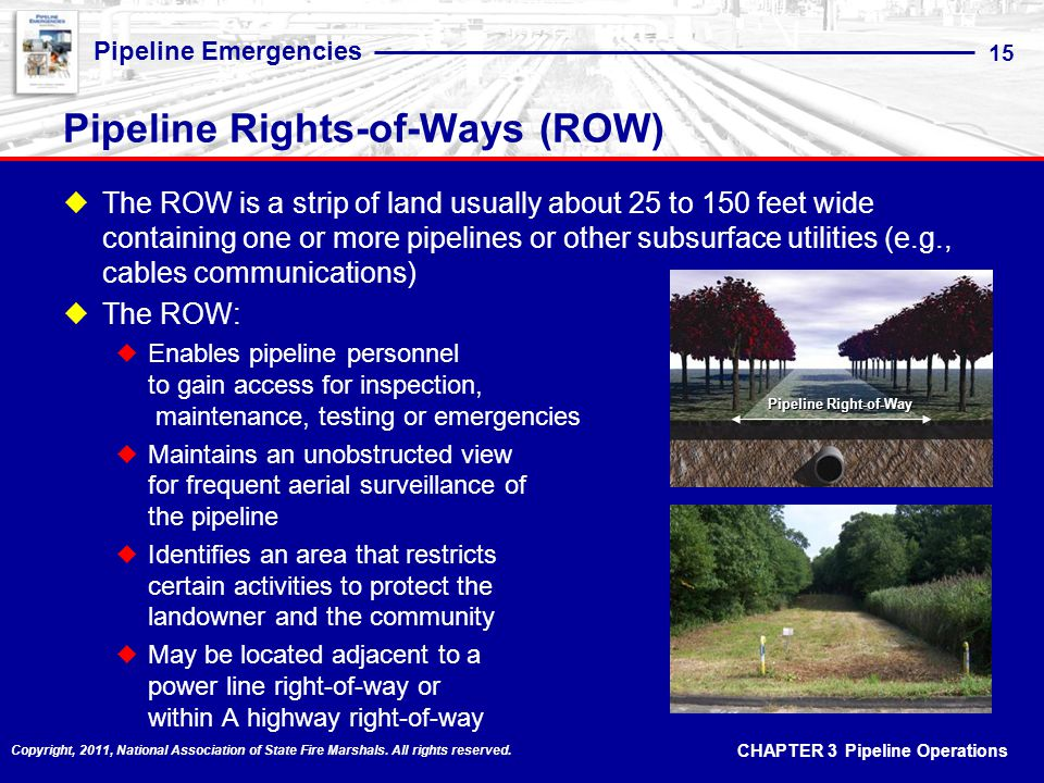 Pipeline Rights-of-Ways (ROW)